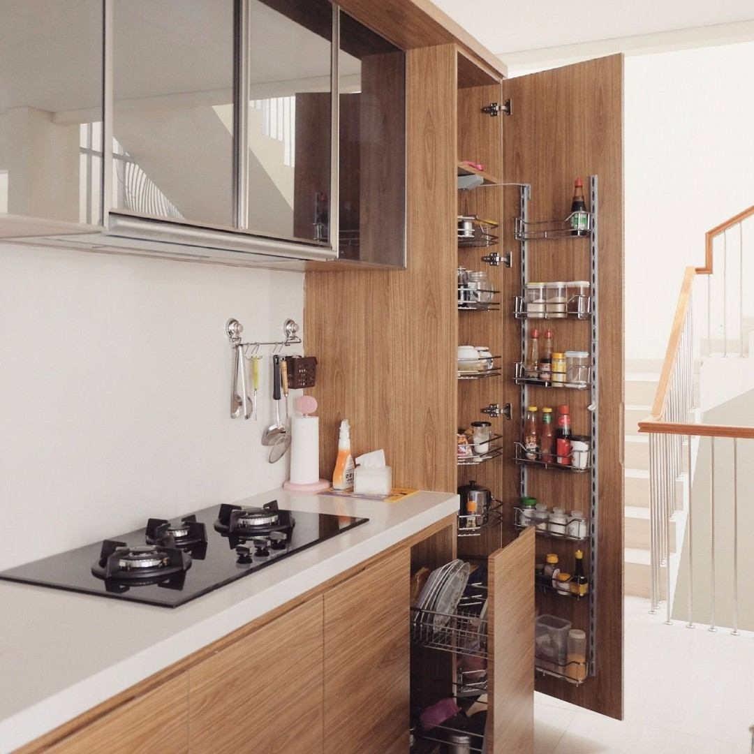 desain dapur minimalis rak bambu - Bagi-in.com